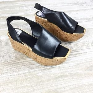 Donald Pliner Black Slingback Wedge Shoes